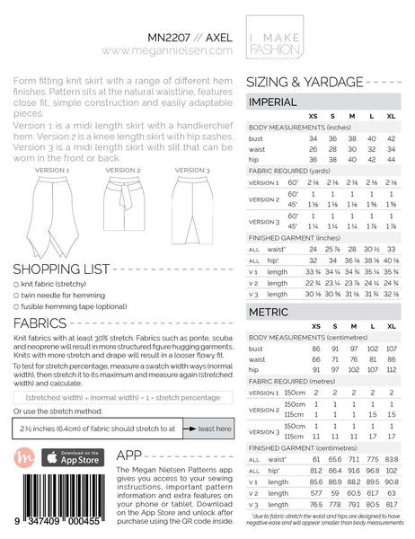 Axel Skirt Pattern