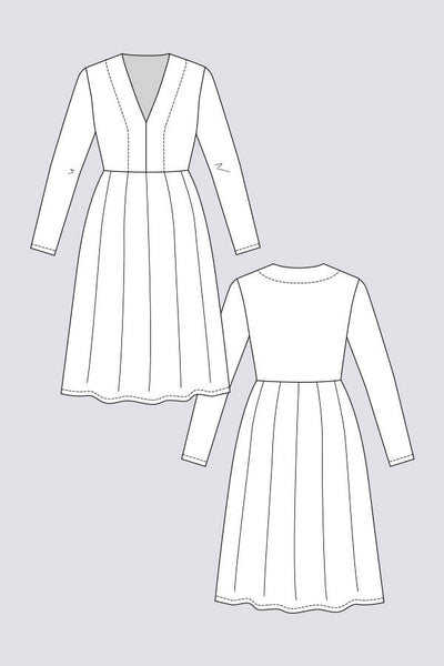 Tuuli V-neck Dress & Bodysuit Pattern