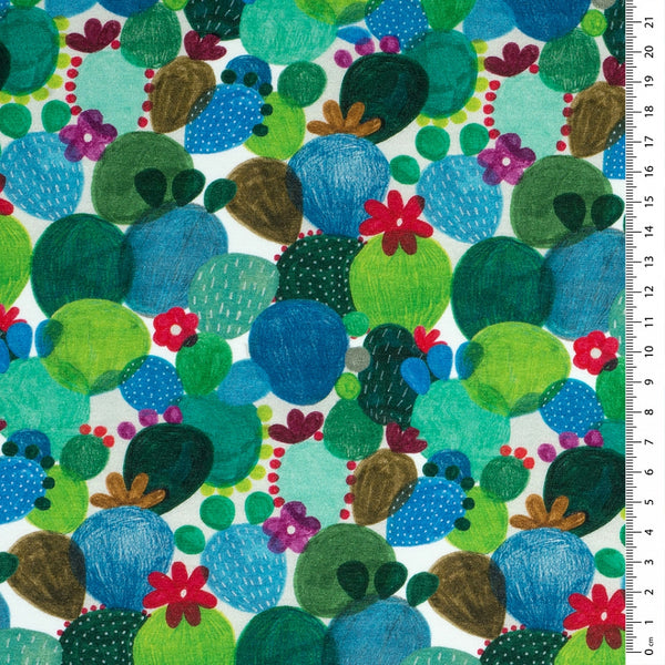 Bright Cactus Cotton Jersey - END OF BOLT - 82CM