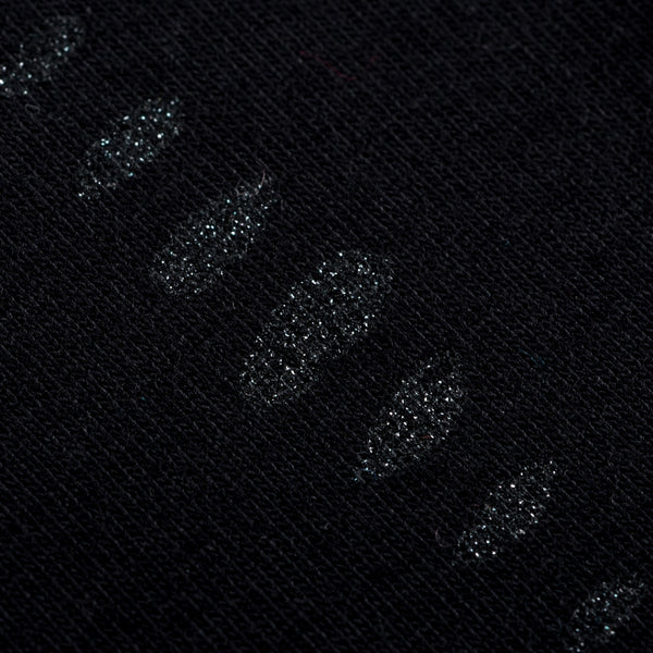 Eclipse Cotton Jersey - Sparkly Black