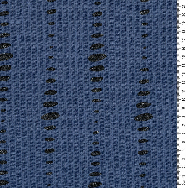 Eclipse Cotton Jersey - Sparkly Blue