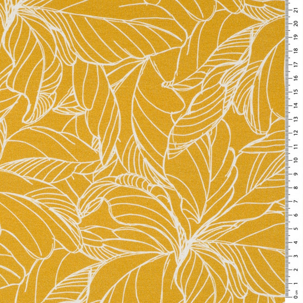 yellow french terry jersey fabric - high quality digital print