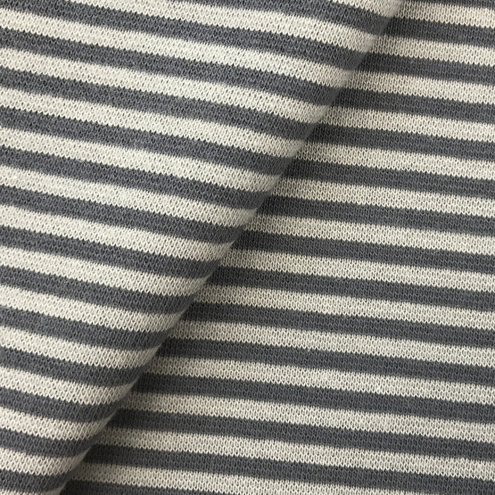 Cotton Ribbing - Grey Stripe