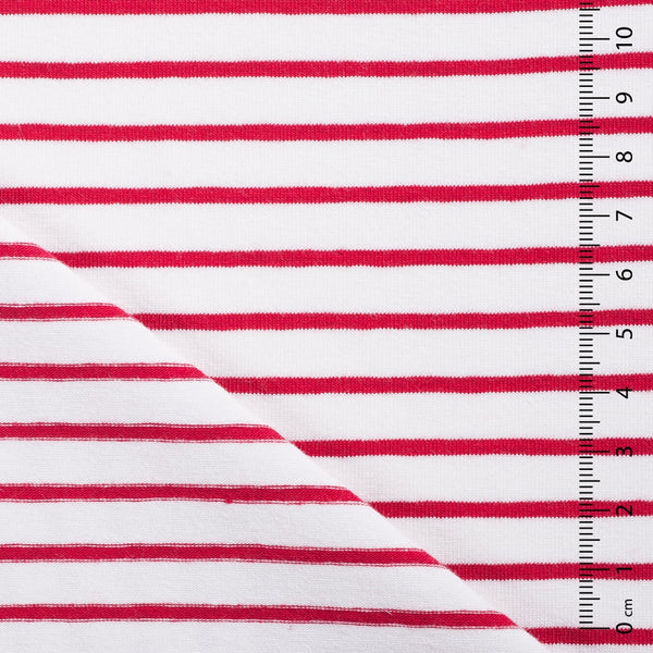 red stripe jersey fabric