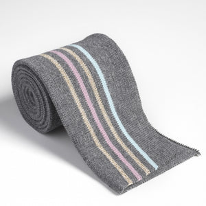 Cotton Knit Folded Cuff - Dark Grey Melange