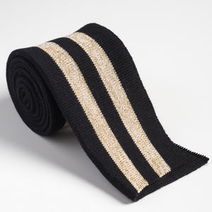 black and gold cuff ribbing strip