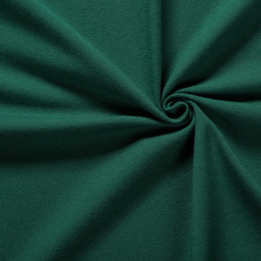 bottle green cotton elastane jersey knit fabric