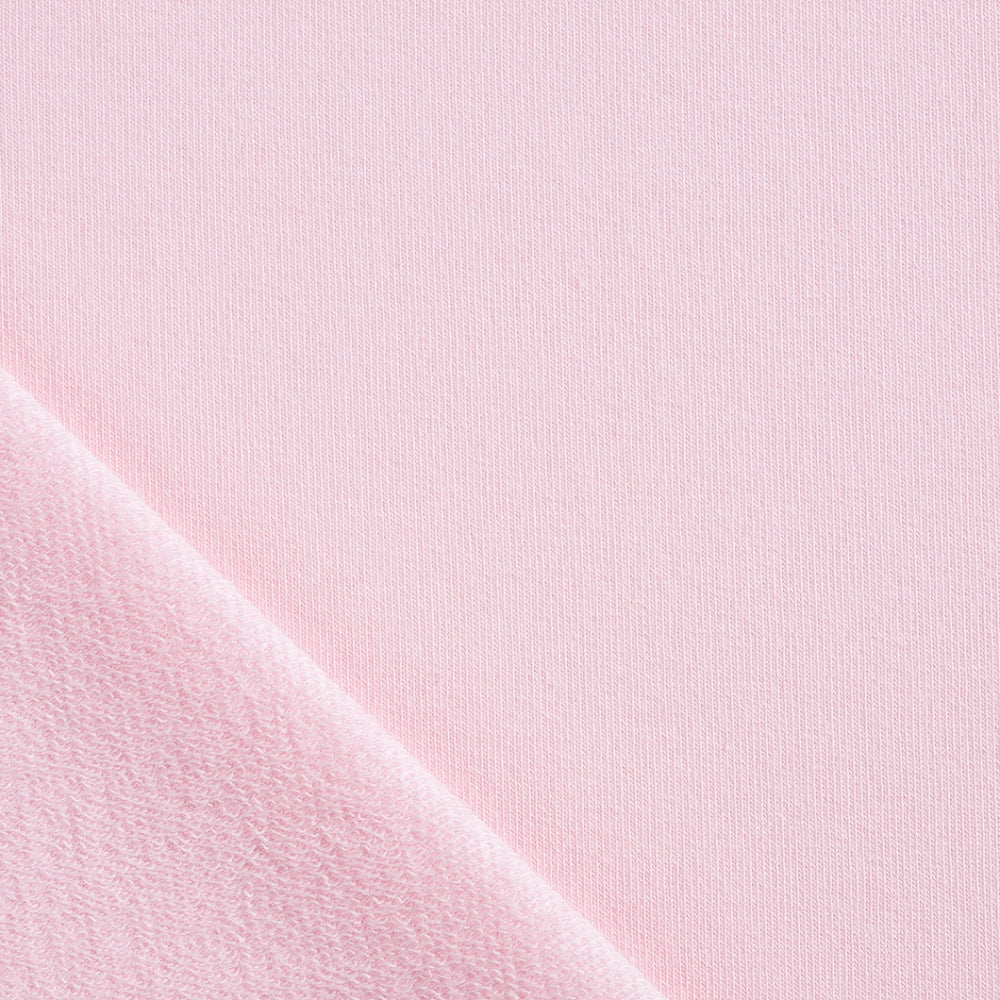 dusky pink french terry knit fabric