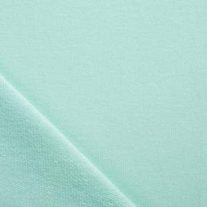 Mint Green Blue French Terry Jersey Fabric Pin and Sew