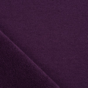 aubergine purple loopback sweatshirt french terry knit