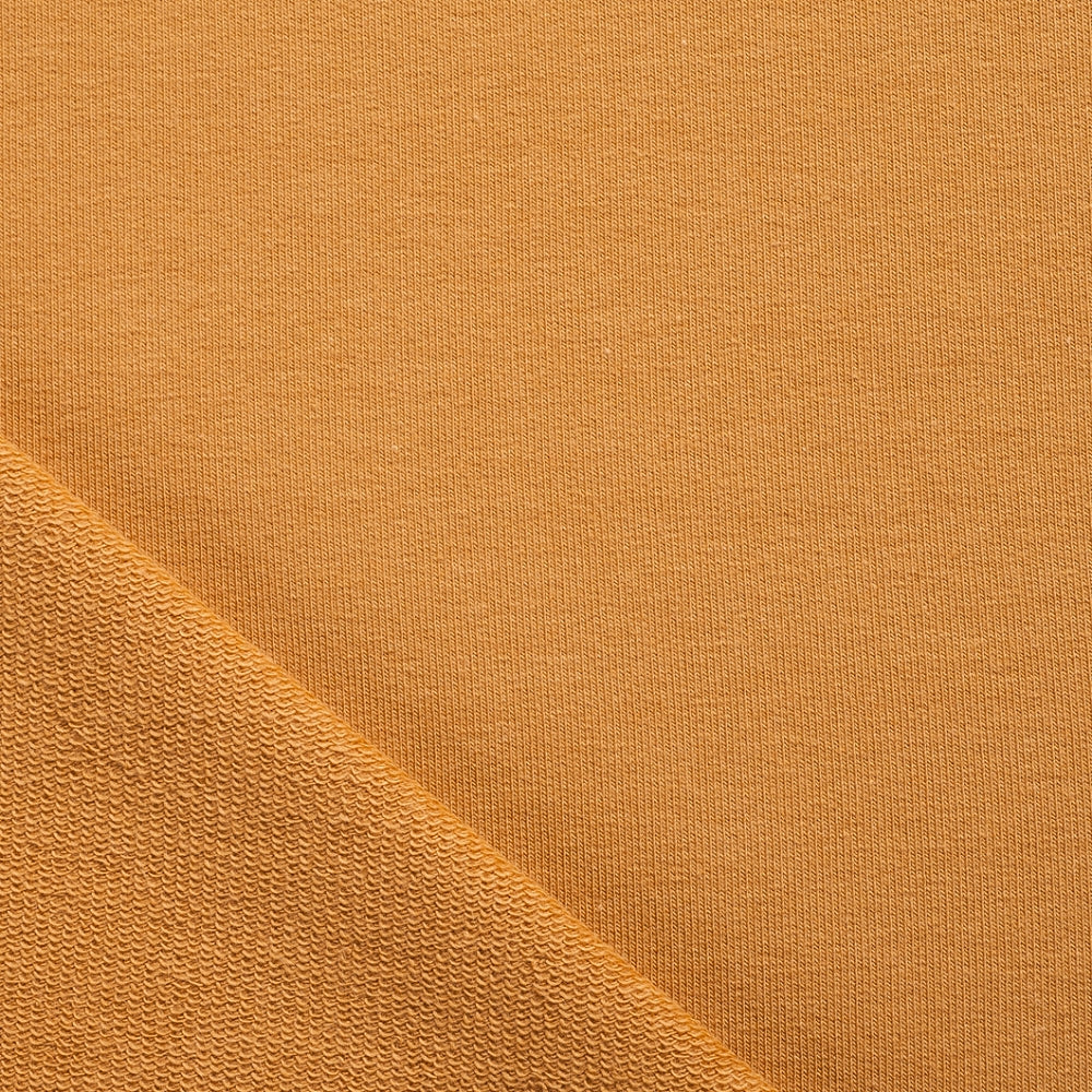 Mustard Ochre Yellow French Terry Loopback Jersey