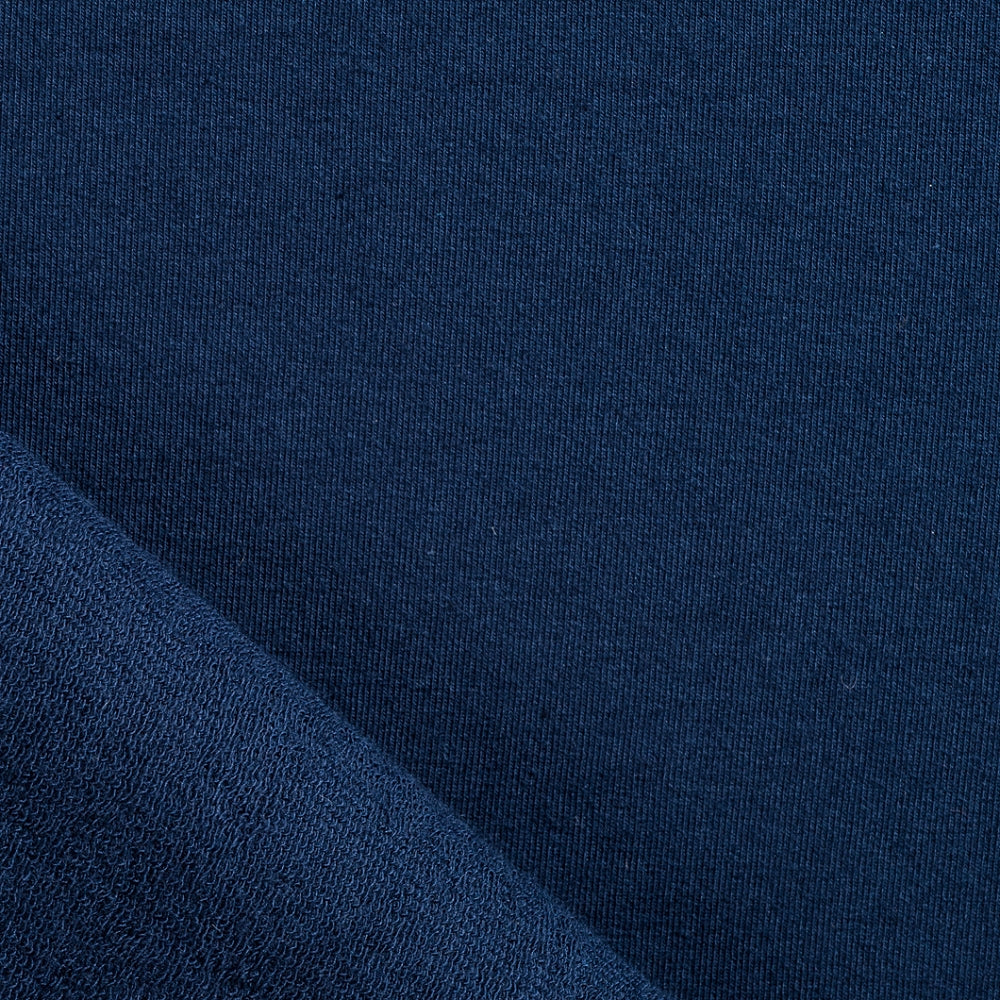navy blue cotton french terry fabric