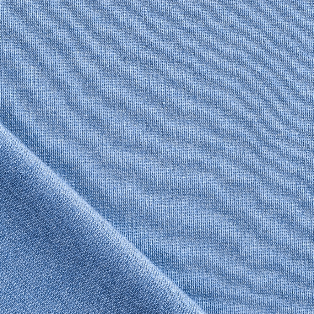 light blue denim look french terry loop back jersey fabric Pin and Sew