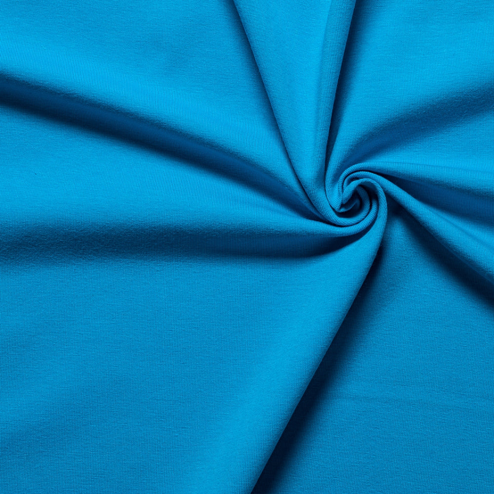 turquoise blue single cotton jersey fabric