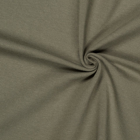 khaki green jersey fabric knit