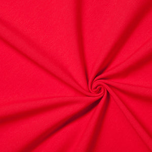 red jersey knit fabric lightweight