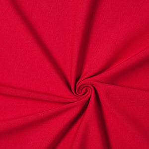 ruby red stretch  jersey fabric knit