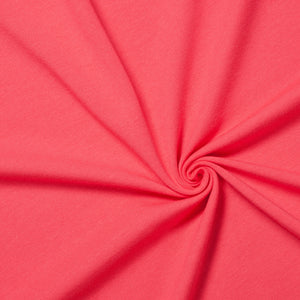 coral cotton jersey knit fabric