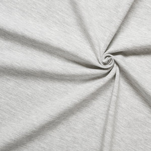 Light Grey Melange Jersey - 200g