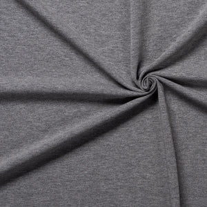 Dark Grey Melange Jersey Fabric