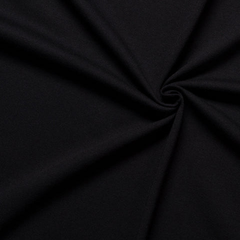 jersey fabric black cotton knit
