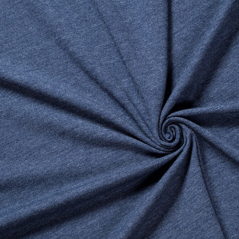 denim blue single jersey, cotton spandex fabric