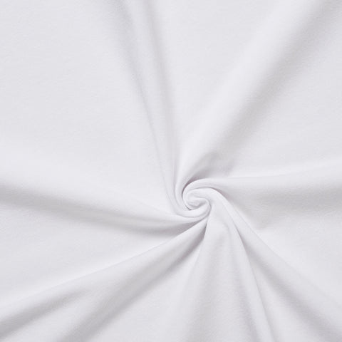 white jersey knit medium weight perfect fabric for making tshirts