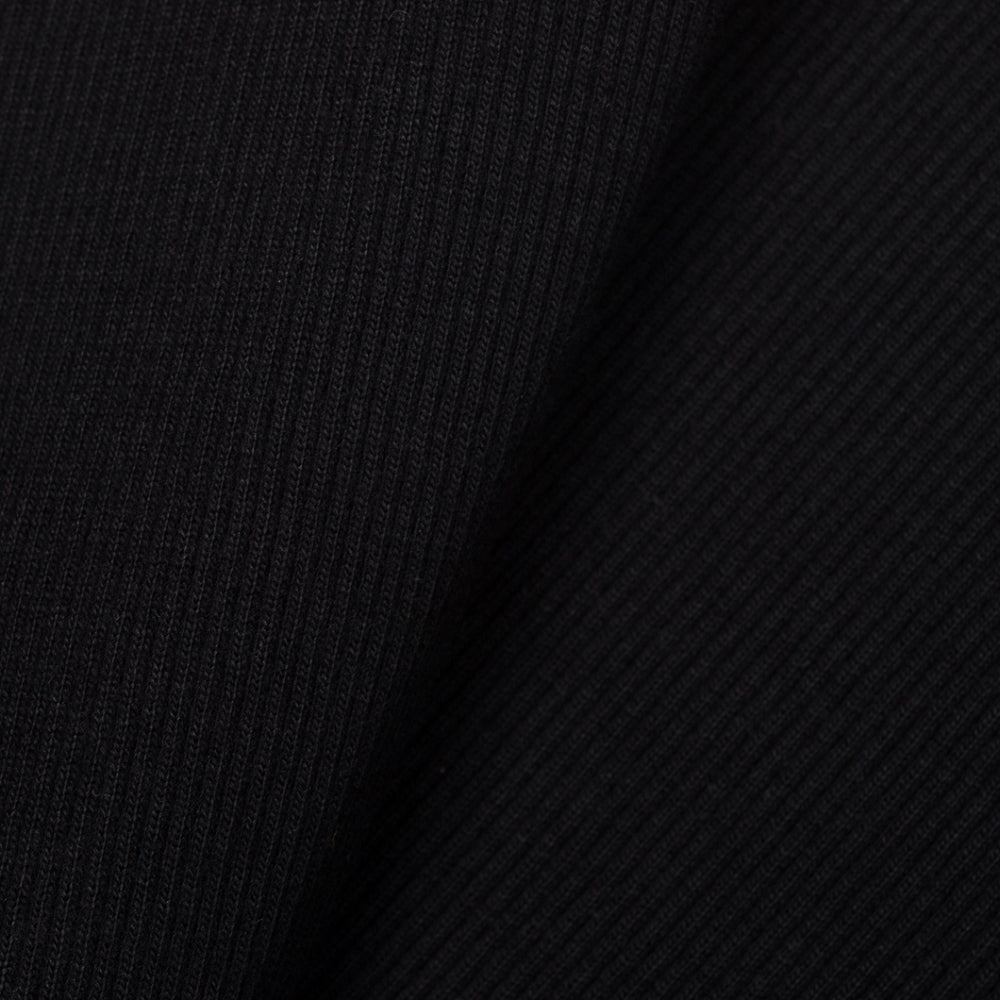 tubular ribbing black