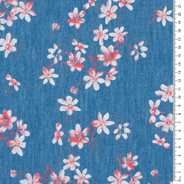 Cherry Blossom Chambray