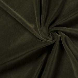bottle green stretch velvet velour