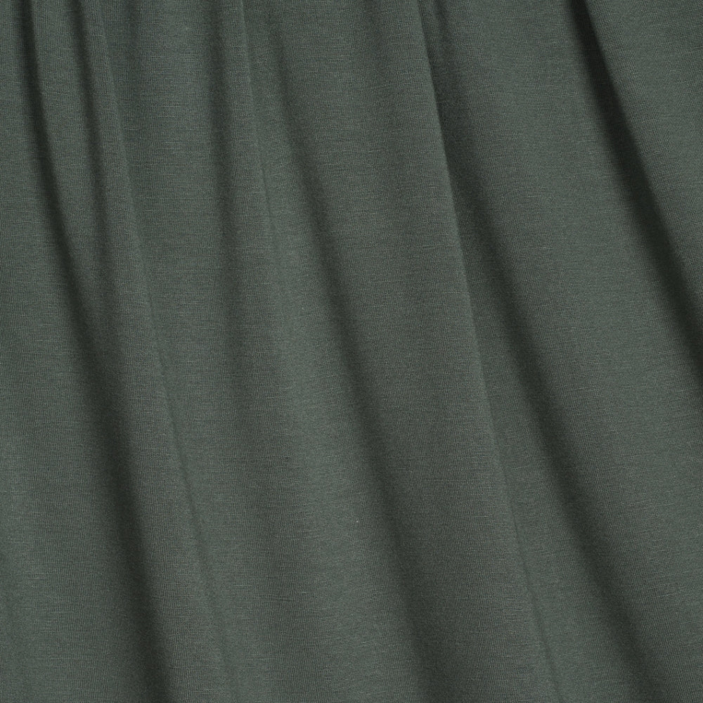 Dark Green Moss Colour Viscose Jersey Knit