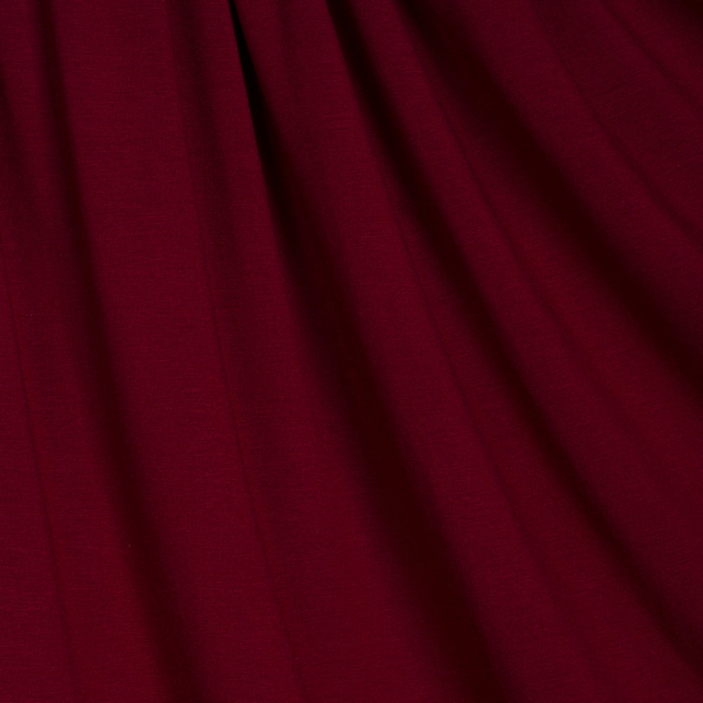 burgundy red viscose stretch jersey knit