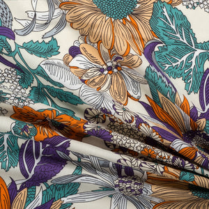 Summer Garden Viscose - Almond