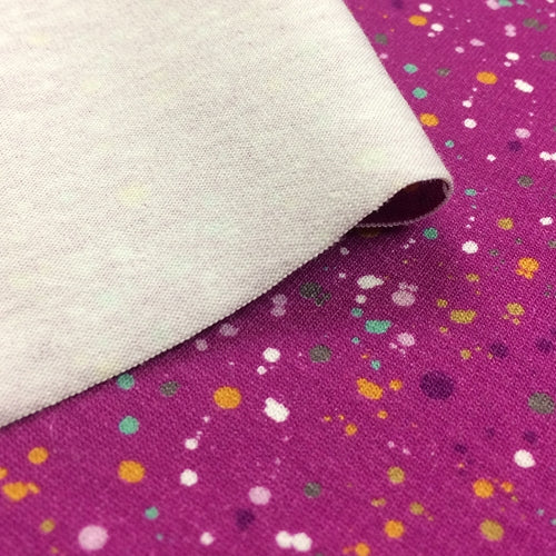 Spots and Dots Fuchsia Cotton Jersey