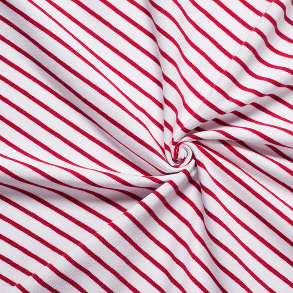 red and white stripes jersey fabric classic breton striped knit