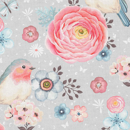 pastel watercolour french terry loopback jersey fabric