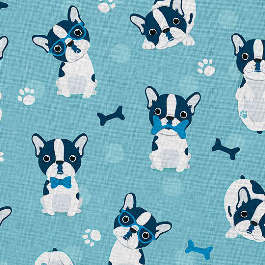 french bulldog sweatshirt knit fabric