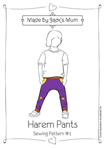 Harem Pants Pattern (Preemie - 12 years)