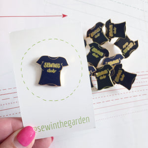 navy sewing club enamel sewing pin brooch