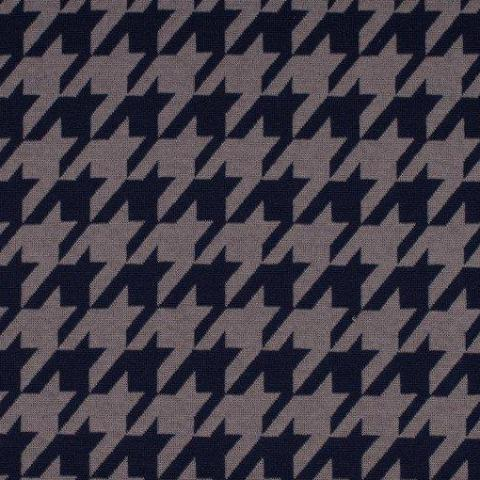 Large Houndstooth Jacquard Knit - Dark Navy/Grey