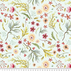 Pastel Meadow French Terry - END OF BOLT - 108cm