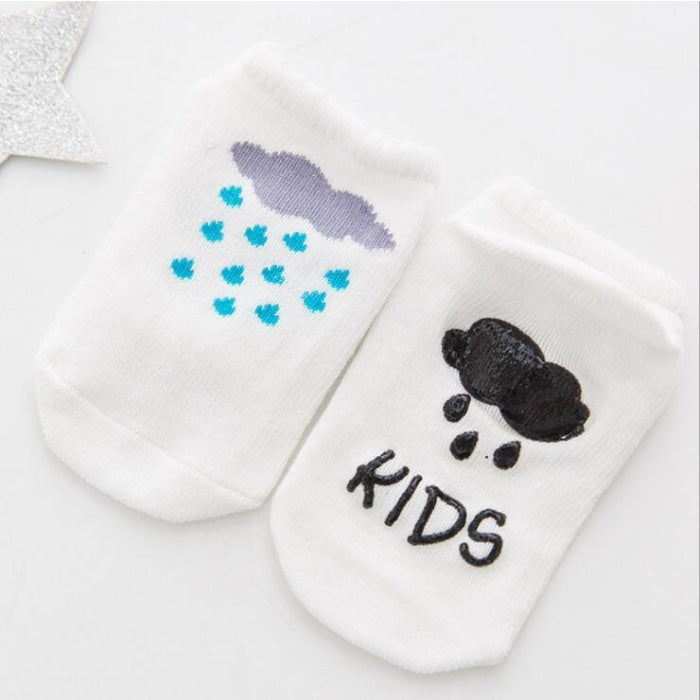 1 Pair Baby Anti-Skid Toddlers Socks Unisex