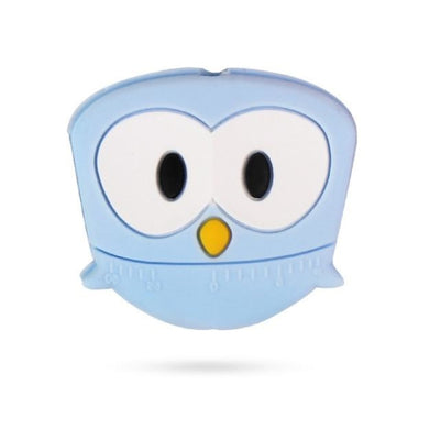 3pcs Toys Silicone Teether Clips for Babies - Blue Owl
