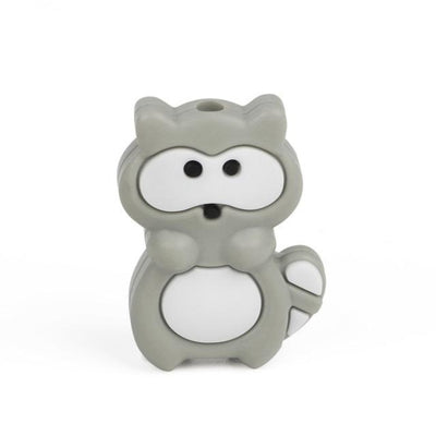3pcs Toys Silicone Teether Clips for Babies - Gray