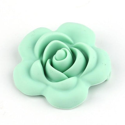 3pcs Toys Silicone Teether Clips for Babies - Green Rose