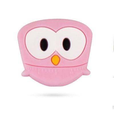 3pcs Toys Silicone Teether Clips for Babies - Pink Owl