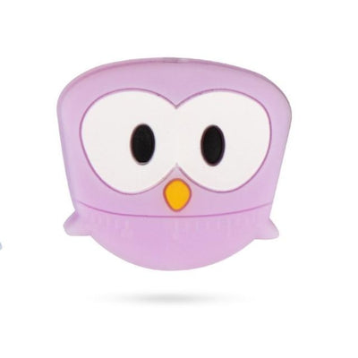 3pcs Toys Silicone Teether Clips for Babies - Purple Owl