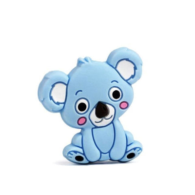 3pcs Toys Silicone Teether Clips for Babies - Sky Blue