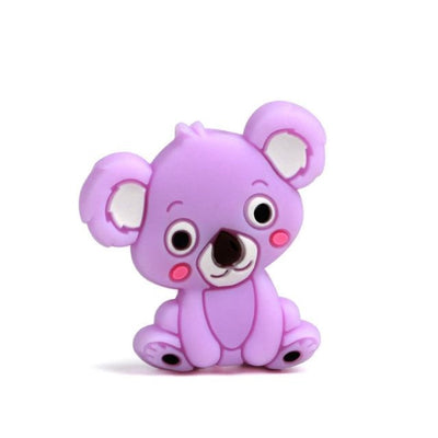 3pcs Toys Silicone Teether Clips for Babies - Violet