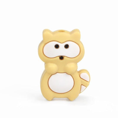 3pcs Toys Silicone Teether Clips for Babies - Yellow